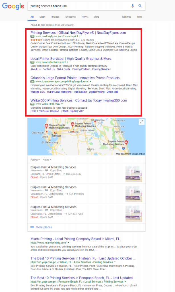 Sample PPC ads